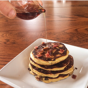 Chocolate Chip Pancakes {with a maple bacon adaptation} by PamperedPaleo
