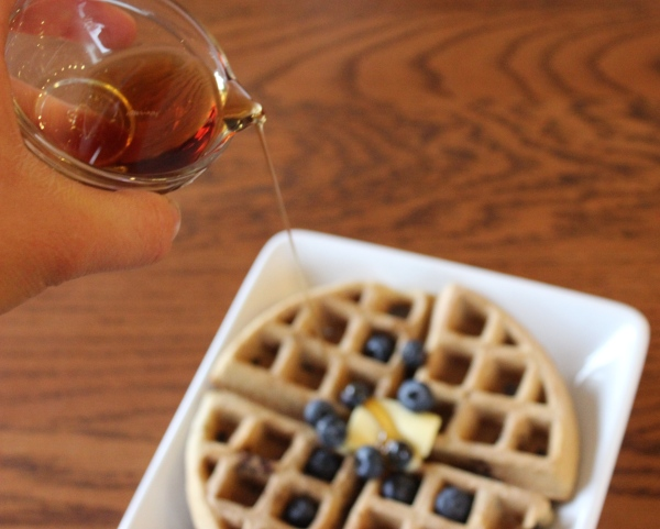 Blueberry Coconut Flour Waffles by PamperedPaleo