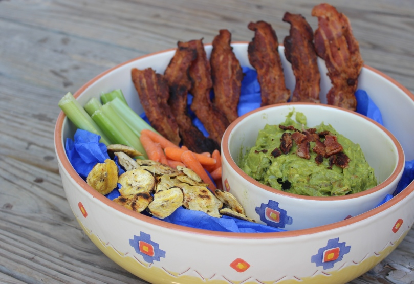 Plantain Bacon Guacamole by PamperedPaleo