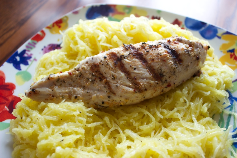 Garlic Butter Noodles with Grilled Chicken by PamperedPaleo