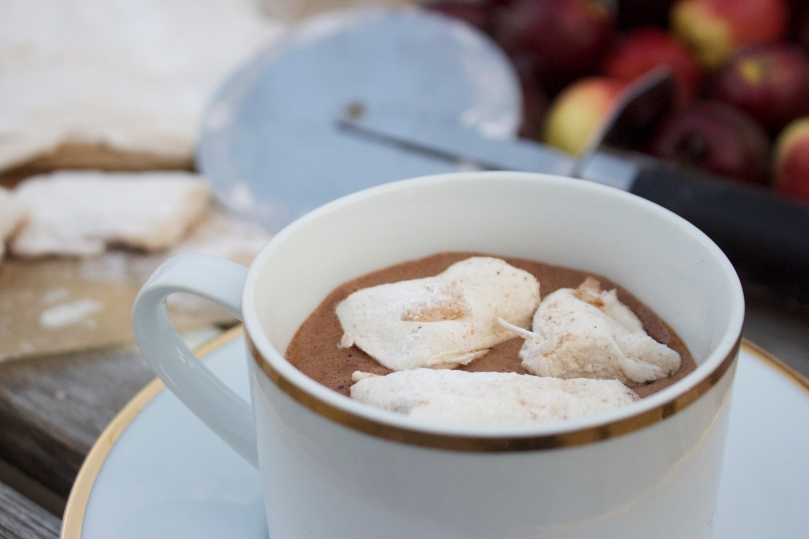 Chai Hot Chocolate with Gingerbread Marshmallows by PamperedPaleo